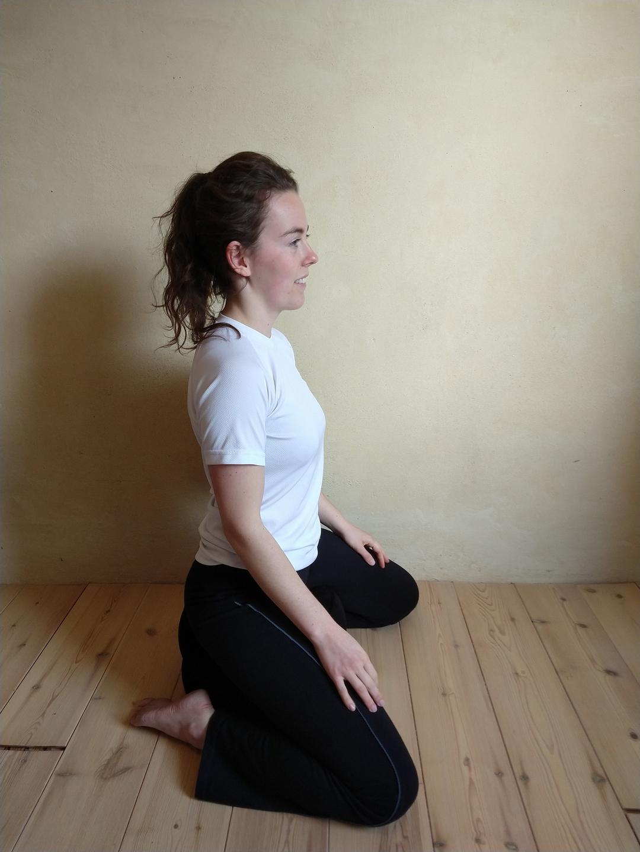 Foto gebruik samten opblaasbaar meditatiekussen