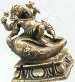 Ganesha klein op concha 2.4 cm