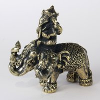 Ganesha op driekoppige olifant 4.5 cm