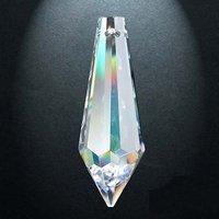 Regenboogkristal druppel, 38 x 14 mm (60)