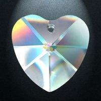 Regenboogkristal hart, 40 mm (20)