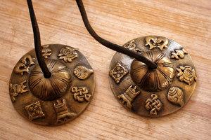 Tingsha (messing) -Gelukssymbolen