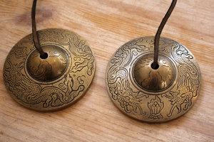 Tingsha (brons) - extra groot Draken