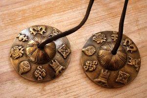Tingsha (brons) -Gelukssymbolen