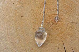 Pendel bergkristal, pijlvormig