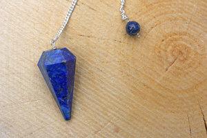 Pendel lapis lazuli, gefacetteerd