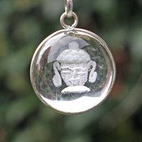 Boeddhahoofd hanger bergkristal